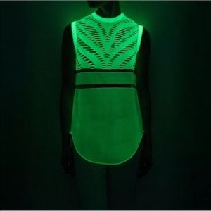 ALEXANDER WANG glow in the dark top white knit
